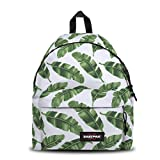 Eastpak Padded Pak'r Zaino, 40 cm, 24 L, Bianco (Brize Leaves Natural)