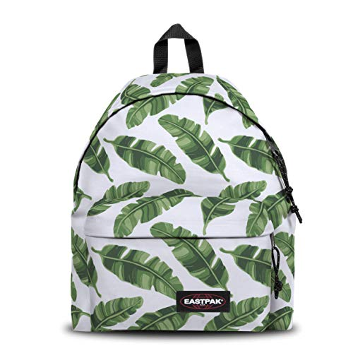 Eastpak Padded Pak'r Sac à Dos, 40 cm, 24 L, Blanc (Brize Leaves Natural)