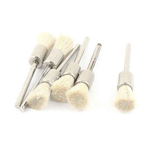 1/20,3 cm schacht wit ingetrokte pen penseel polijstmachine gereedschap 6 stuks