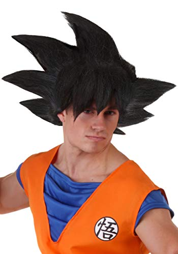 Dragon Ball Z Goku Black Wig Adult Anime Synthetic Wig for Cosplay Standard