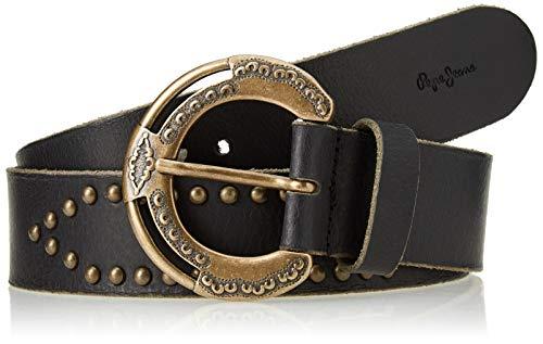 Pepe Jeans Flora Belt cinturón, 999negro, L para Mujer