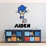 Custom Name Wall Decal Adventure Sonic Wall Art Boys Kids Room Bedroom Decor...