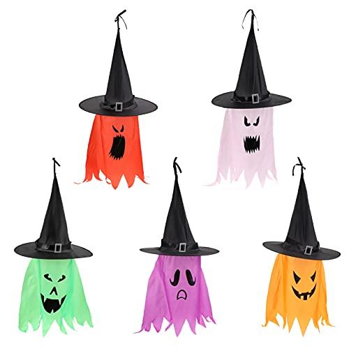 Yardwe Halloween LED Beleuchtete Hexe Hüte Hängen Glowing Geist Hexe Hut LED String Lampe Dekorationen für Party Im Freien Hof Indoor Terrasse Rasen Garten