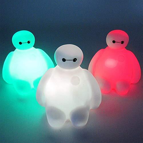 Luz de la noche Lovely Baymax Lamp Color Change Cartoon Night Light Children
