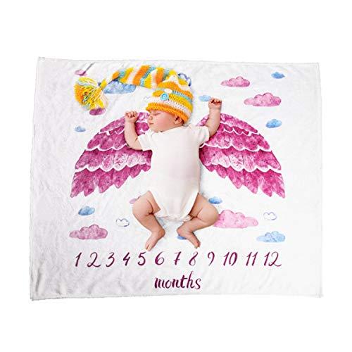 Chennie Baby Meilenstein Decke Wickeln Wickeln Weichen Flanell Badetuch Neugeborenen Fotografie Requisiten