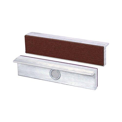 HEUER Schraubstock Schutzbacken Alu-Fiber, Backenbreite 125 mm mit Magnet,1 Paar, 1 Stück, 111125