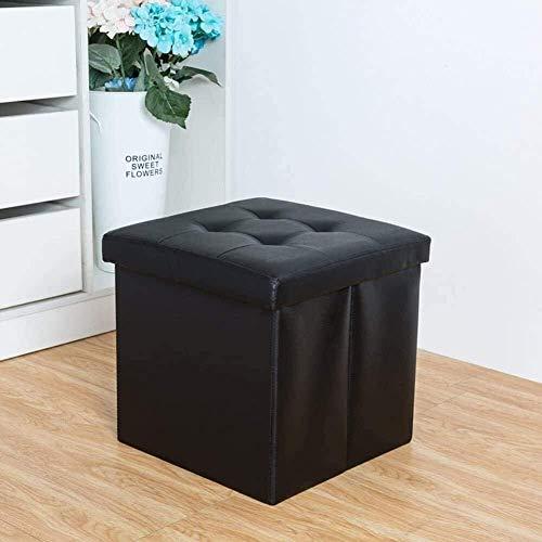 Stilvolle Einfachheit Stuhlaufbewahrung, Aufbewahrungshocker Klappbank Spielzeugkiste Wechsel Schuhsofa Leder Haushaltsverpackung Box76X38X38Cm (30X15X15)), Größe: 38X38X38Cm (15X15X15), Farbe: D,