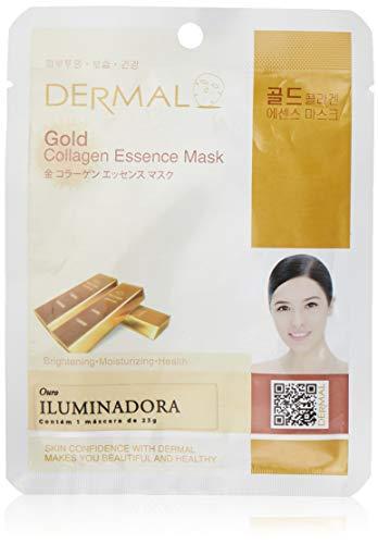 DERMAL Gold Collagen Essence Facial Mask Sheet 23g Pack of 10 - Anti Aging & Moisturizing, Deep Tissue Rejuvenation, Daily Skin Treatment Solution...