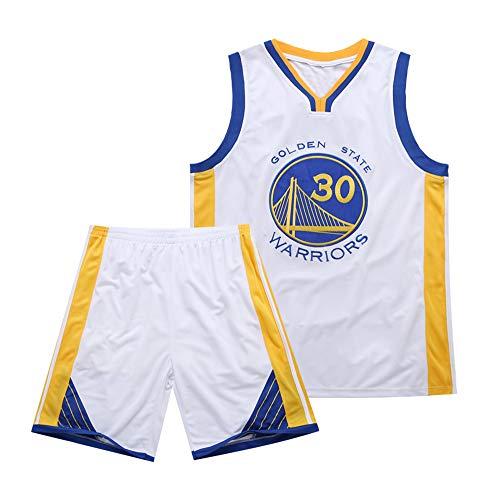 Es un Regalo para los fanáticos de # 30 Stephen Curry Golden State Warriors Traje de Baloncesto sin Mangas Top de Verano Chaleco Fresco Camisa Niños Estudiantes Adolescentes Adecuado para Adultos-WH