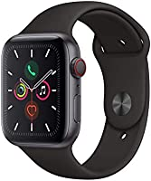 Apple Watch Series 5 GPS + celular – 40 mm Space Gray aluminio caja con correa deportiva negra (renovado)