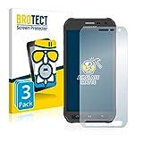 BROTECT Entspiegelungs-Panzerglasfolie kompatibel mit Samsung Galaxy S6 Active SM-G890A (3 Stück) - Anti-Reflex Panzerglas Schutz-Folie Matt