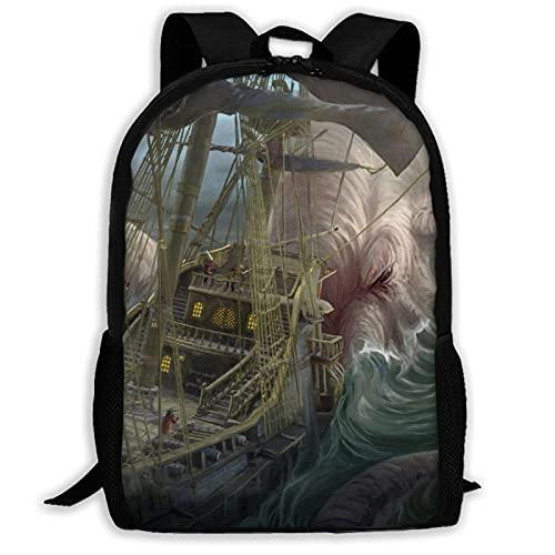 Great Cthulhu - Mochila de viaje para portátil con capacidad ligera para papelería, para niñas, niños, escuela, mujeres, hombres, oficina
