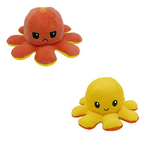 Reversible Tintenfisch Kuscheltierpuppe, Kreative Spielzeuggeschenke FüR Kinder Erwachsene Doppelseitige Flip Tintenfisch Puppe, Niedliche Tintenfisch PlüSchtiere