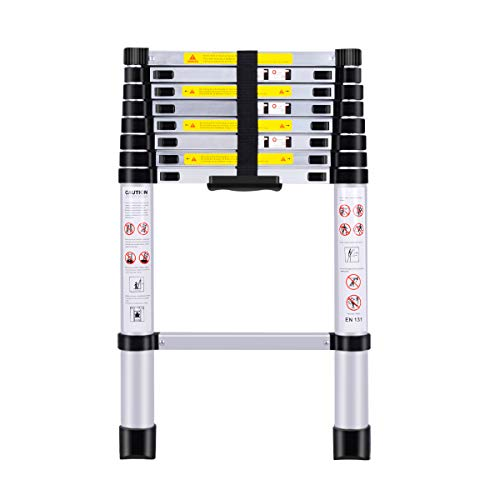 (8.5Ft/2.6M) Telescoping Ladders?EN131Standards Multi-Purpose Folding Aluminum Extension Ladder
