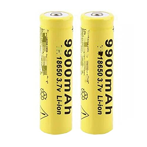 2pcs 18650 3.7v 9900mah Batería De Iones De Litio Recargable, Utilizada para La CáMara del Walkie-Talkie del Gamepad del Poder MóVil De La Linterna