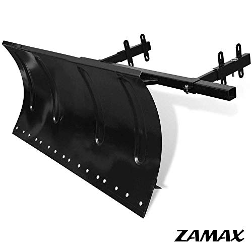 Review Of ZAMAX Steel Snow Plow Blade for Snow Thrower, 5 Angles Adjustable Snow Plows Perfect for D...