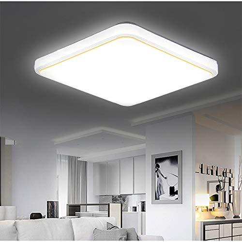 Luz Empotrada En El Techo LED, 20 * 20 Pulgadas, Iluminación Cuadrada Plateada/Dorada Cepillada (Blanco Frío) Para Armario, Cocina, Hueco De Escalera, Sótano, Dormitorio, Baño,Oro