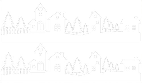 Rayher 60962000 Abziehmotive Dorfidylle, weiß, hauchdünn, 2 Bögen 10 x 17 cm, Tattoo, Aufkleber, Abziehbild, Wasserschiebebild, für glatte Oberflächen, Glas, Kunststoff, Keramik, Metall, Spiegel