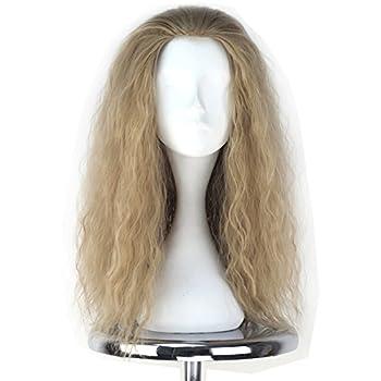 Miss U Hair Decent Long Curly Ash Blonde Hair Men Party Movie Cosplay Costume Wig