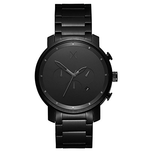 MVMT Herren Chronograph Quarz Uhr mit Edelstahl Armband D-MC01-BB