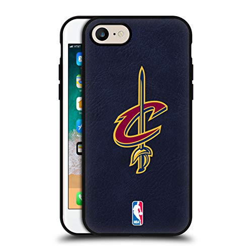 Head Case Designs Ufficiale NBA Cleveland Cavaliers Logo 2 Cover in Pelle Parte Posteriore Blu Compatibile con Apple iPhone 7 / iPhone 8 / iPhone SE 2020