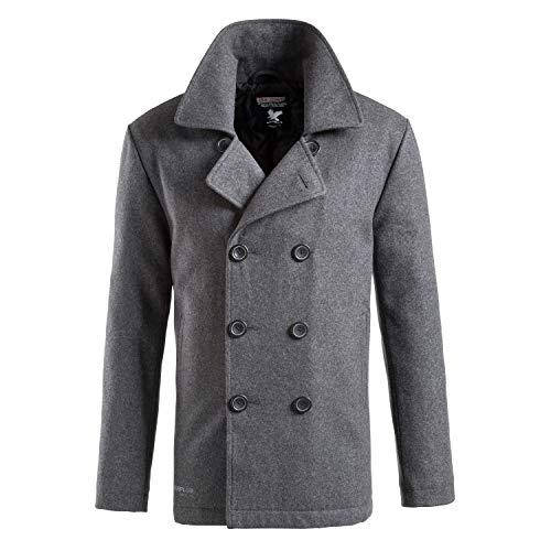 Surplus Herren Pea Coat, Anthracite, XL