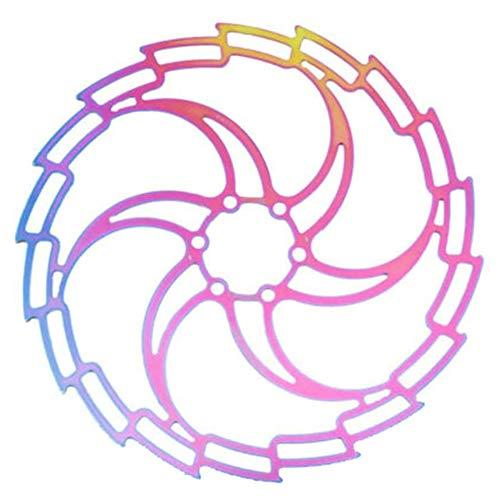 Asudaro Fahrrad Bremsscheibe mit 6 Schrauben 160/180 / 203mm Bunter Edelstahl Mountainbike Fahrrad Bremsscheiben Pad Fahrradzubehör für Rennrad MTB, BMX