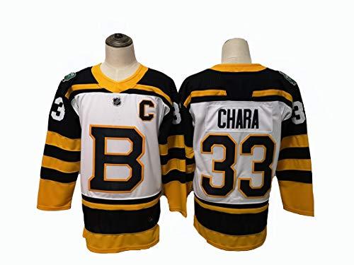 Gmjay Eishockeytrikot Boston Bruins 33# 88# 37# 63 Eishockeytrikot White Stitched Letters Numbers NHL Long Ice Hockey Tops,white-33,XXL