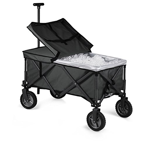 ONIVA - a Picnic Time brand Collapsible Adventure Wagon Elite, Black/Gray