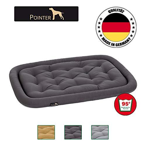 Pointer orthopädisches Hundekissen, ovale Hundematratze Kochfest und Kratzfest, Premium Qualität, Grau L