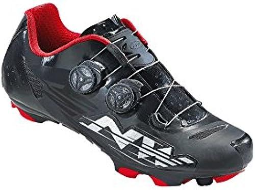 Northwave Blaze Plus Rennradschuh Schuhe SPD schwarz-Weiß-rot