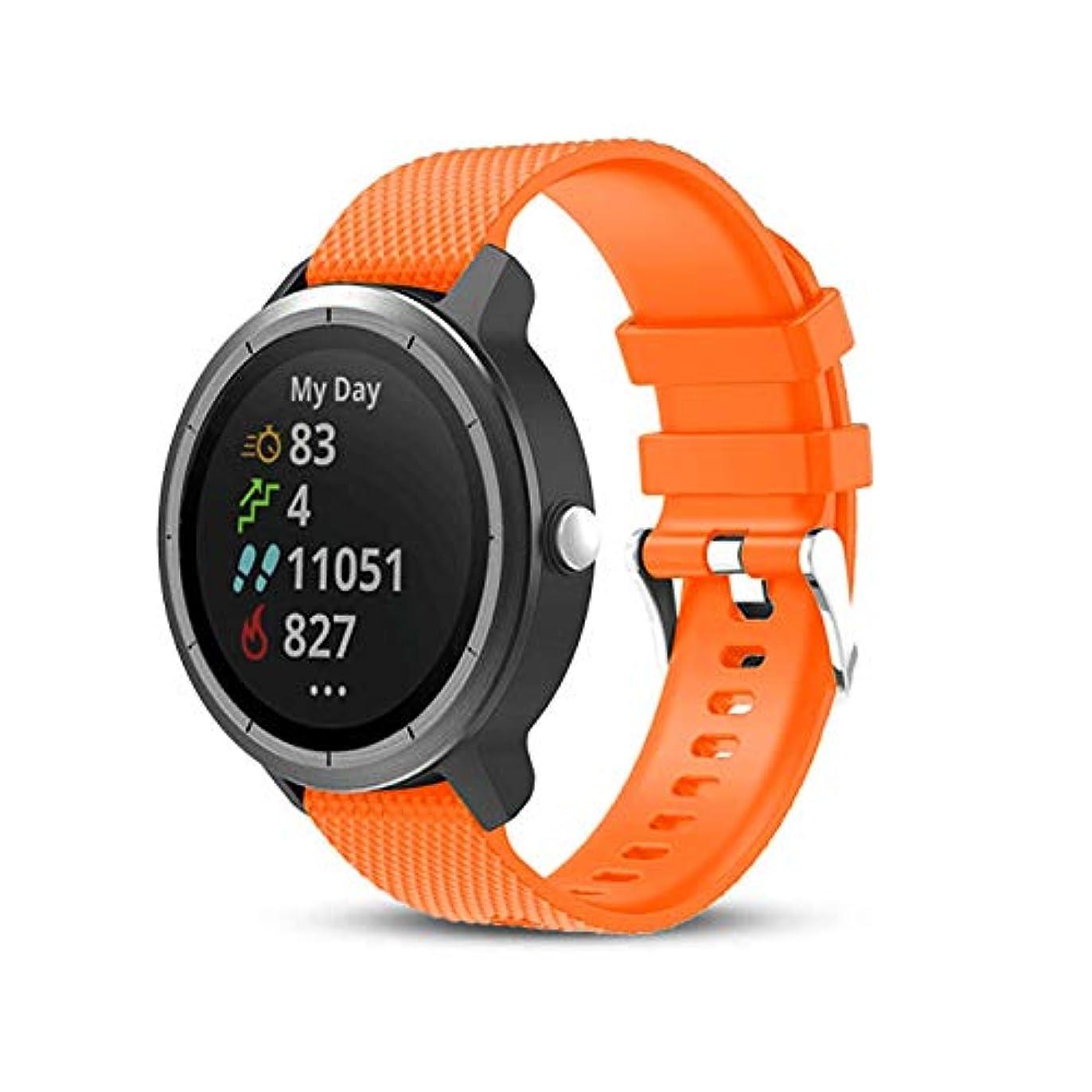 裏切り者思い出させる合体ONTUBE バンド 対応 Garmin vivoactive 3 20mm,シンプルで軽量なソフトシリコン交換用バンドfor Garmin Vivoactive 3/Samsung Gear Sport/Ticwatch 2 Smart Watch 20mm (オレンジ色)