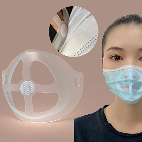 3D Face Mask Bracket (5Pcs) - Protect Lipstick Lips - Internal Support Holder Frame Nose Breathing smoothly - DIY Face M-A-S-K Accessories - Washable, Reusable