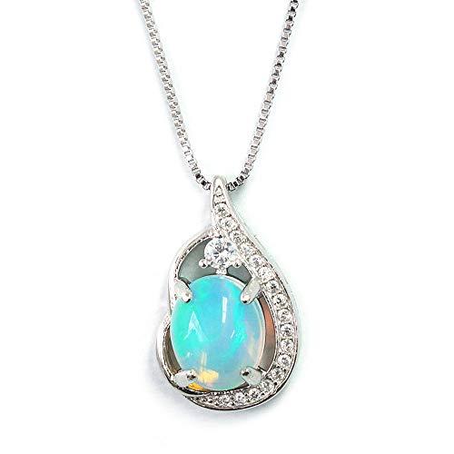 One&Only Jewellery 【鑑別書付】 大粒 3ct 天然 レインボー オパール ネックレス ペンダント K18GP 10月誕生石