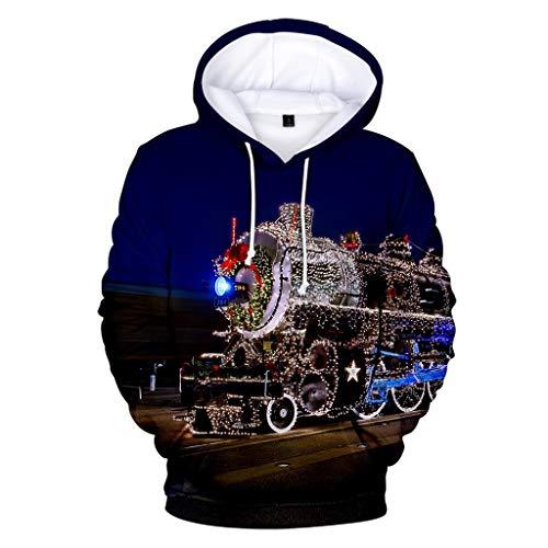 Zylione Hoodie Herren Kapuzenpullover 3D Druck Weihnachtspullover Oversize Sweatshirt Pullover mit Kapuze Freizeit Bluse Christmas Jumper Tops