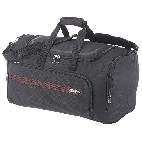 American Tourister Airbeat - Duffle Bag 55/22 Bolsa de Viaje, 55 cm, 51.5 Liters, Negro (Universe Black)