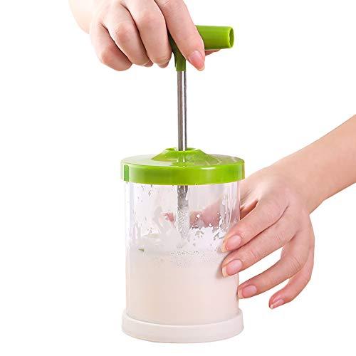 Koowaa 1 manuelle Presse Doppel-Mesh-Creamer Schaum DIY Sahnebereiter Backwerkzeuge grün