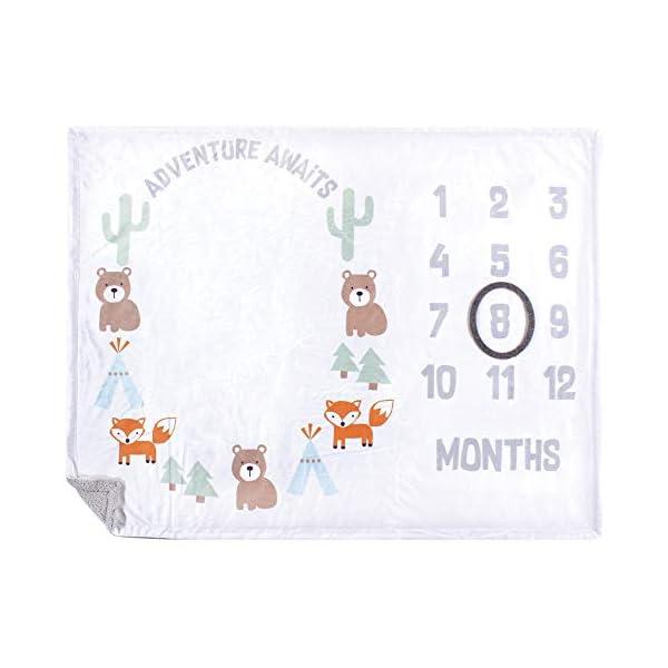 Hudson Baby Unisex Baby Plush Holiday and Milestone Blanket