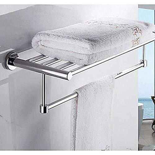 OLDJTK Toallero Toallero Hecha de Acero Inoxidable Toalla 1 Pieza de Carril con Doble Pared de Montaje Accesorios de baño toallero