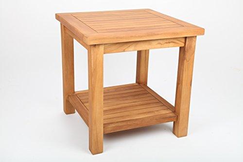 point-garden - Tavolino da balcone con ripiano in legno di teak