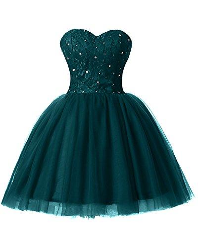 Gorgeous Bride - Moderno vestido de fiesta con escote corazón y corte en A, tul fucsia 54