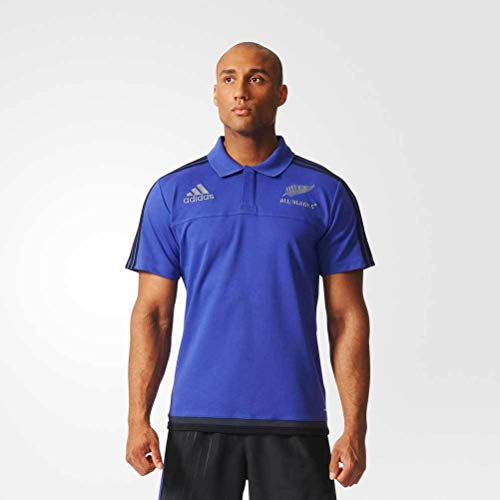 adidas New Zealand All Blacks 2015/16 Players Media Rugby Polo Shirt - Size S