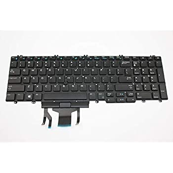 Original New for Dell Precision M7730 7730 Laptop US Keyboard Backlit Without Frame
