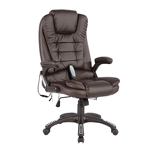 Mecor Massage Office Chair Thick High Back Fabric Executive Computer Desk Chair, Ergonomic Reclining Chair with Lumbar Support, Rolling Swivel Executive Chair