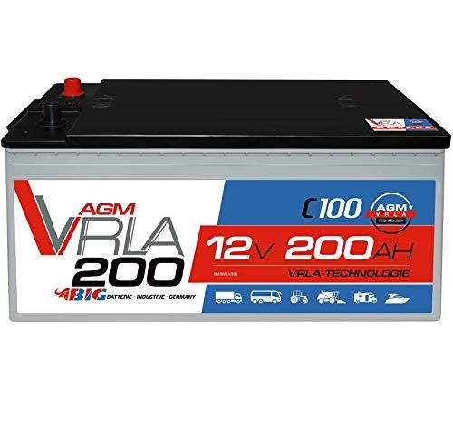 BIG AGM Solarbatterie 12V 200Ah Batterie Versorgung Mover Caravan Boot statt 180Ah