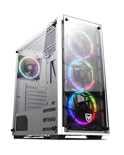 Cajas Pc Gaming Atx Blanco Rgb cajas pc gaming atx  Marca Nfortec