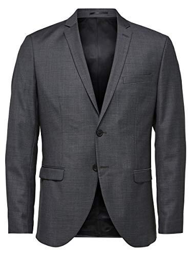 SELECTED HOMME Herren SHDONE-MYLOBIGA4 Blazer NOOS Anzugjacke, Grau (Grey Melange), 48