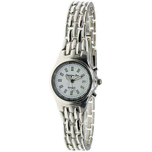 Christian Gar Mod.4458 - Reloj analógico de Cuarzo para Hombre Esfera Blanca. Maquina Miyota