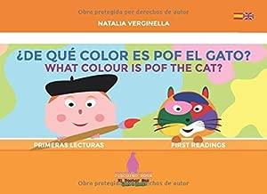 De qué color es Pof el gato? - What colour is Pof the cat?: Español - English (El Doctor Sax - Pinguino Rosa) (Spanish Edition)