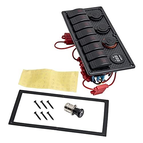 XHAJFNCO Little Rich Man Kit de interruptores de interruptores de Interruptor de Interruptor Rocker LED Rocker DE 8 Gang Rock LED Ajuste para el camión de Barcos Marinos del Coche
